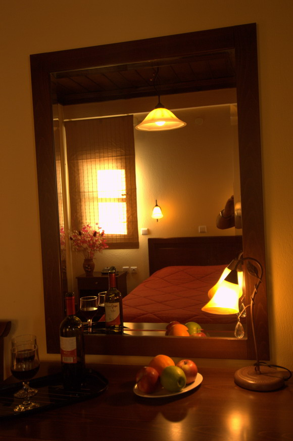 Individually decorated rooms at Hotel Kroupi in Trikala